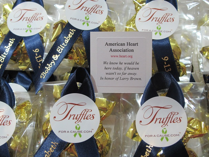 Chocolate Wedding Favors for Charity | Truffles for a Cause
