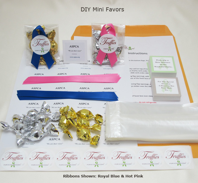 Front display of our Mini DIY Favors showing all components.