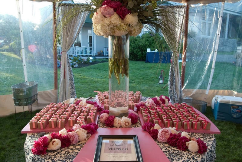 Favor Table - Azalea & Pink on Kraft