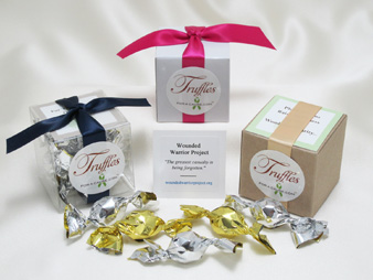 Boxed mini chocolate favors