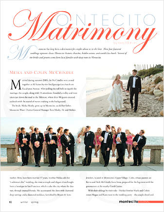 Weddings - Matrimony cover for Montecito wedding