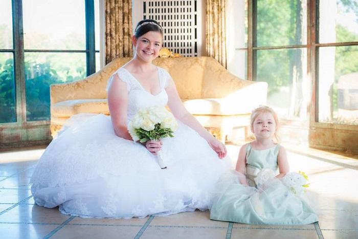 Portrait of Karen & Niece with (Type 1 Diabetes) before wedding - donation to JDRF