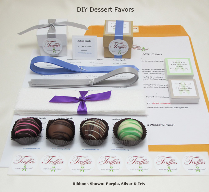 Front display of our Dessert DIY Favors showing all components.