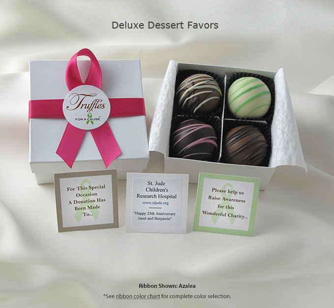 Frontal display of our Deluxe Dessert Favors.
