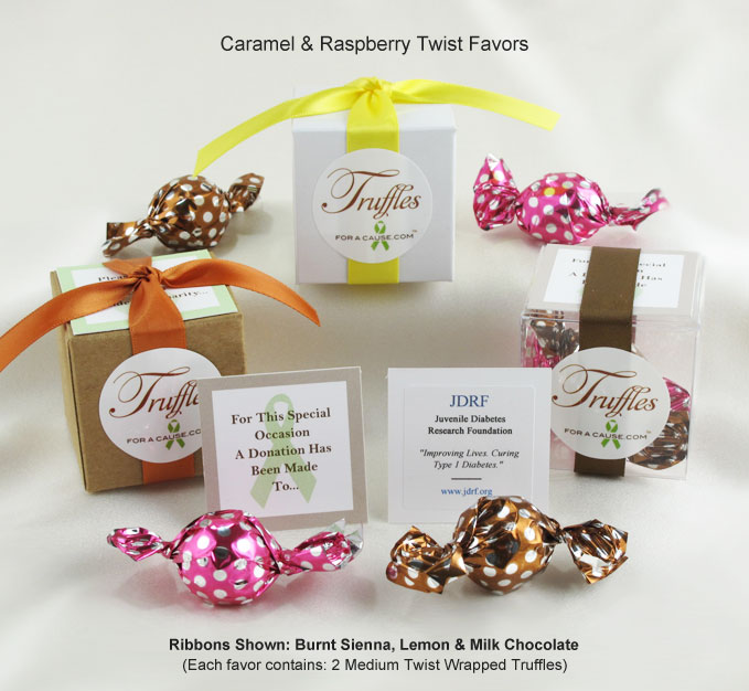Front display of our Caramel Twist Favors