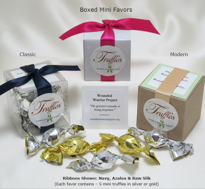 Front display of our Boxed Mini Favors.