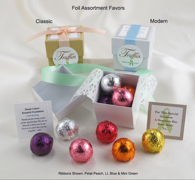 Frontal display of our Foil Assorment Favors