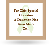 Image of our Option 1 charity card for our favors.