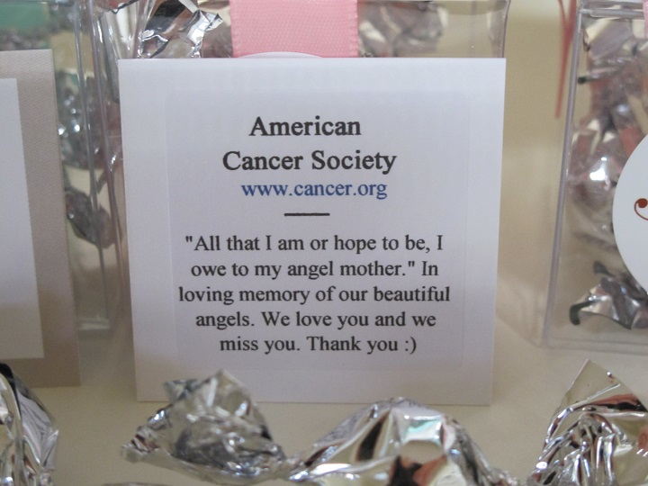 American Cancer Society - Close up of charity card.